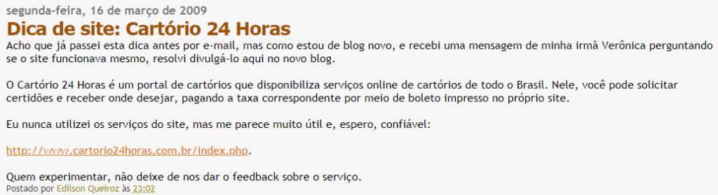cartório 24 horas é confiável blog