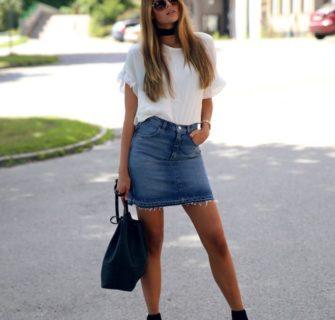 estilos de saia jeans