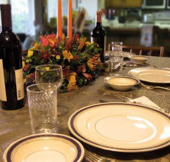 mesa de jantar pronta
